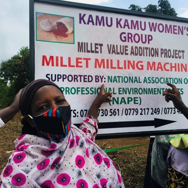 NAPE SUPPORTS WOMEN WITH A MILLET GRINDING MACHINE TO IMPROVE THEIR HOUSEHOLD INCOME